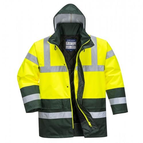 Zimná nepremokavá reflexná bunda Kontrast